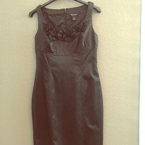 White House Black Market, black satin dress